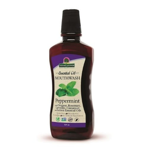 NATURE'S ANSWER - Essential Oil Mouthwash Peppermint