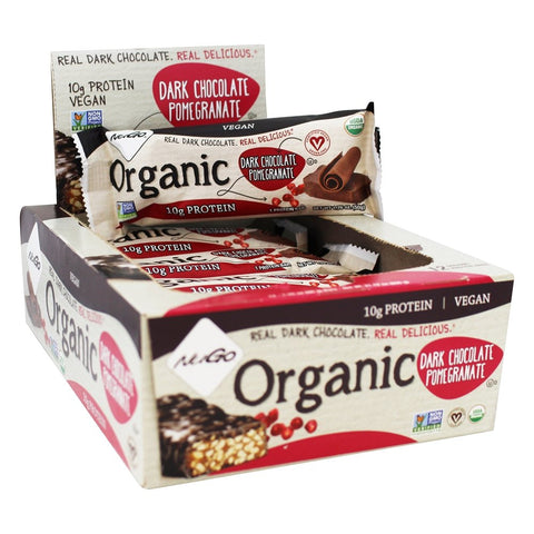 NUGO NUTRITION BAR - Organic Protein Bars Dark Chocolate Pomegranate