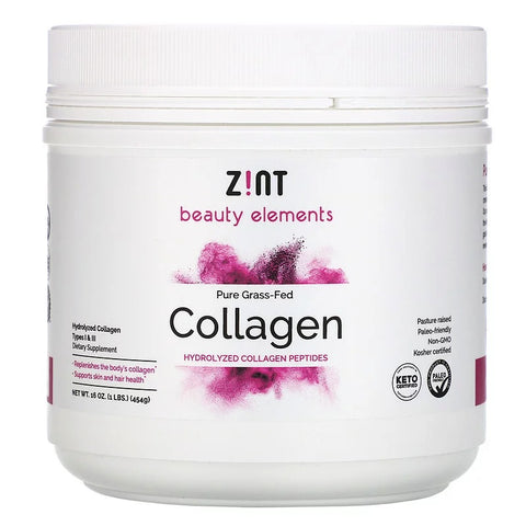Z!NT - Grass-Fed Beef Collagen Hydrolyzed Collagen Types I & III Container -