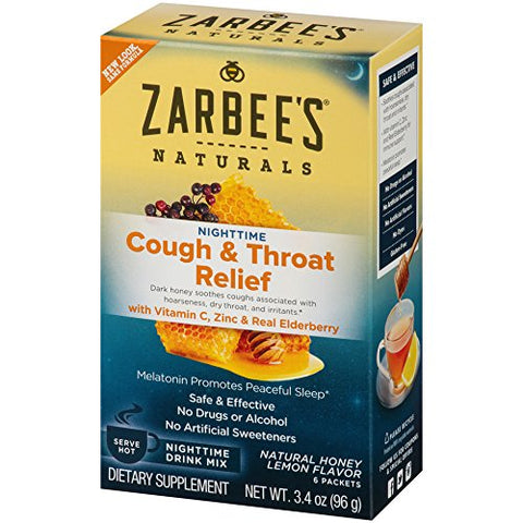 ZARBEE'S - Nighttime Cough & Throat Relief Drink Mix Honey Lemon
