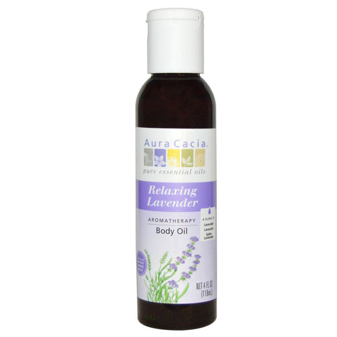 AURA CACIA - Aromatherapy Body Oil Relaxing Lavender