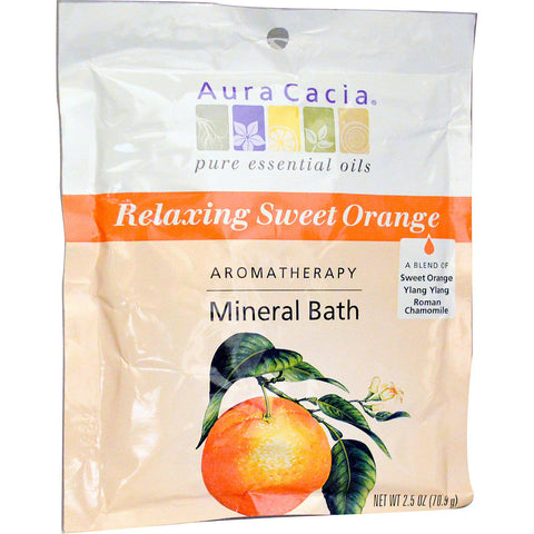 AURA CACIA - Aromatherapy Mineral Bath, Relaxing Sweet Orange
