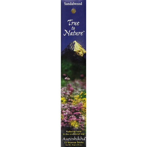 Auroshikha - True To Nature Incense Indra Sandalwood - 10 g (0.35 oz.)