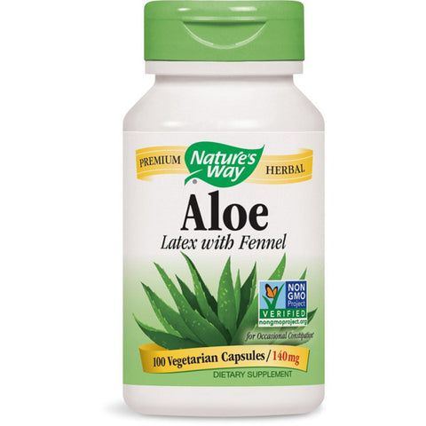 NATURES WAY - Aloe Latex with Fennel 140 mg