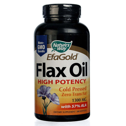 NATURES WAY - EfaGold Flax Oil High Potency 1300 mg