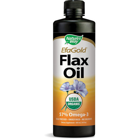 NATURES WAY - EFAGold Flax Oil Organic