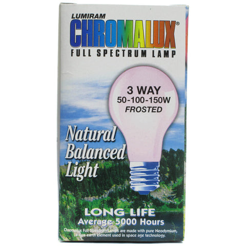 CHROMALUX - 3 Way Frosted 50-100-150W Light Bulb