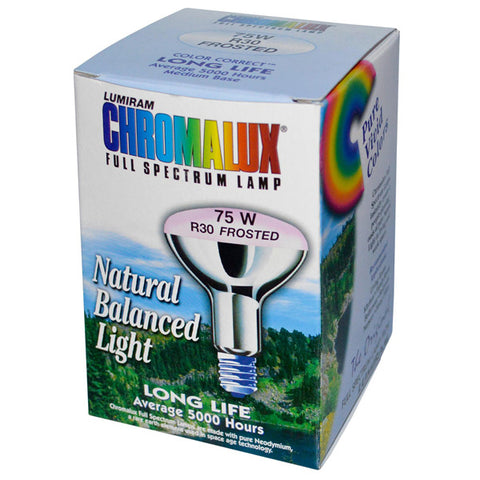 CHROMALUX - Frosted Reflector 75W Light Bulb