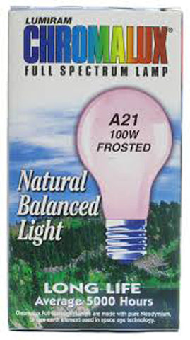 CHROMALUX - Standard Frosted 100W Light Bulb