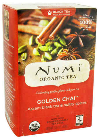 Numi Tea Golden Chai   Spiced Assam Black Tea
