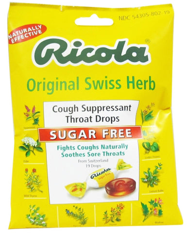 Ricola Sugar Free Original Swiss Herb Cough Drops