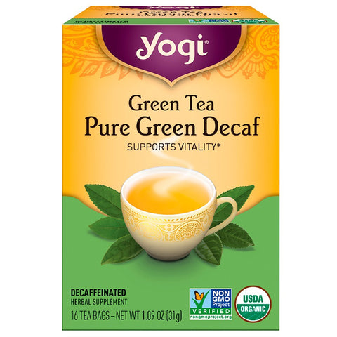 YOGI TEA - Green Tea Pure Green Decaf