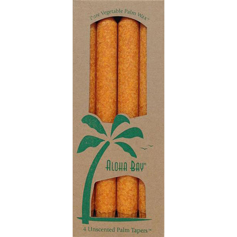 ALOHA BAY - Palm Tapers Unscented Orange Candles