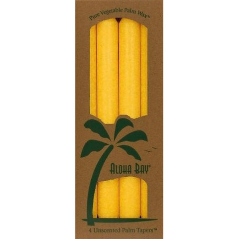 ALOHA BAY - Candle 9 Inch Palm Tapers Yellow
