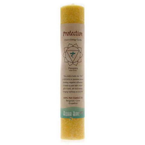 ALOHA BAY - Candle Chakra Pillars Protection Yellow