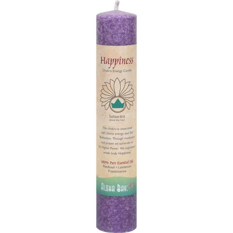 ALOHA BAY - Candle Chakra Pillars Happiness Violet