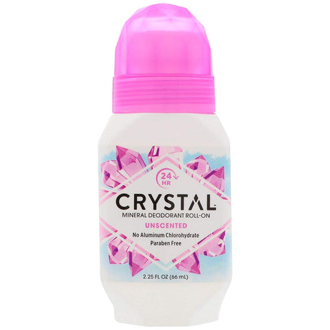 CRYSTAL - Mineral Deodorant Roll-On, Unscented