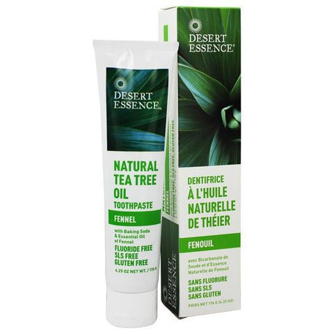 DESERT ESSENCE - Natural Tea Tree Fennel Toothpastes