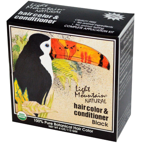 LIGHT MOUNTAIN - Hair Color and Conditioner Black