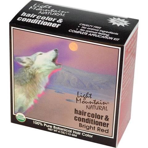 LIGHT MOUNTAIN - Hair Color and Conditioner Bright Red