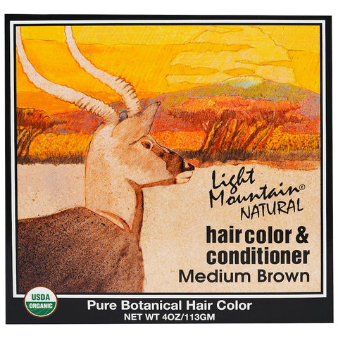 LIGHT MOUNTAIN - Hair Color and Conditioner Medium Brown