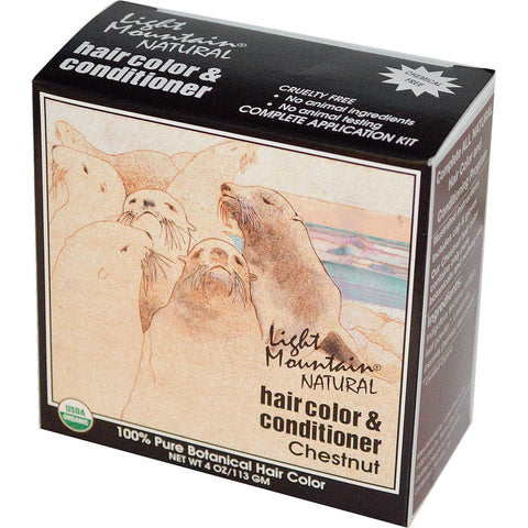 LIGHT MOUNTAIN - Hair Color and Conditioner Chestnut