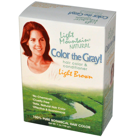 LIGHT MOUNTAIN - Color The Gray Natural Hair Color and Conditioner Light Brown