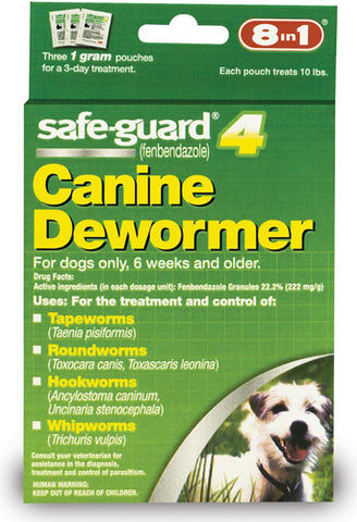 8 IN 1 - Safe-Guard Canine DeWormer for Small Dogs