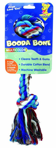 Booda 2 Knot Rope Bone Multicolor Extra Large