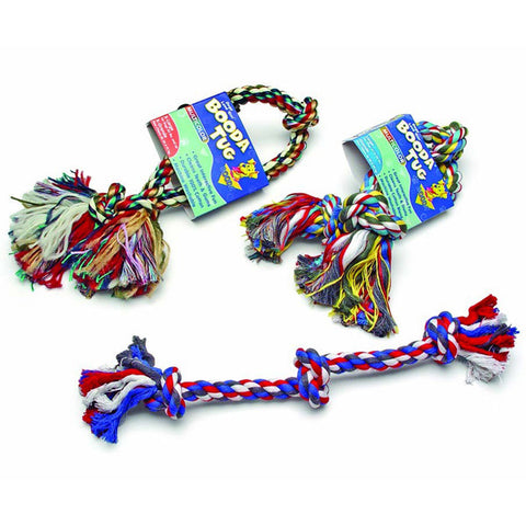 Booda 3 Knot Rope Dog Tug Multicolor Extra Large
