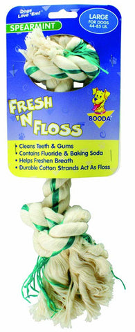 Aspen Booda - Fresh-N-Floss 2 Knot Bone Spearmint Large - 1 Toy