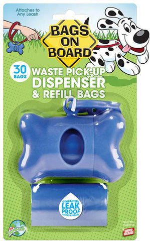 Dog Poop Pick Up Bone Dispenser Blue