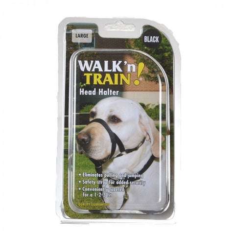 COASTAL - Walk 'n Train Dog Head Halter Size 3 Black