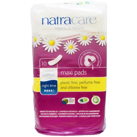 NATRACARE - Natural Feminine Maxi Pads Night Time Extra Long