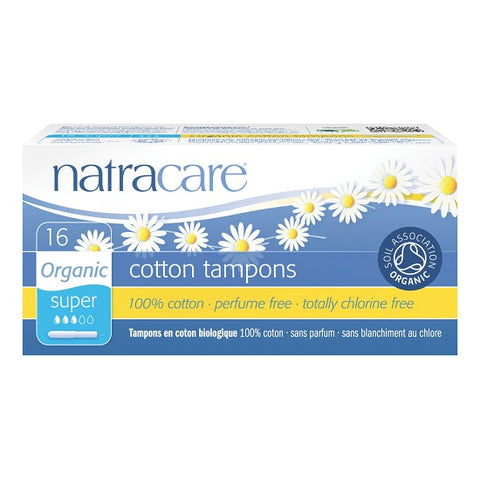 NATRACARE - Organic All Cotton Tampons with Applicator Super