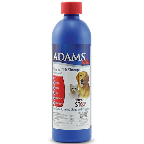 ADAMS - Flea and Tick Shampoo with Precor for Dogs and Cats