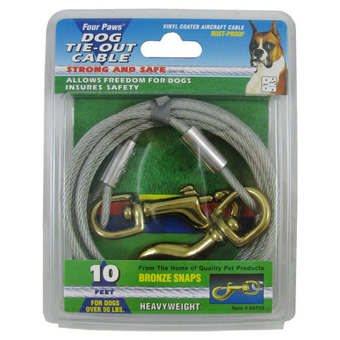 FOUR PAWS - Tie Out Cable Silver Heavy Weight