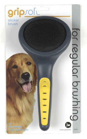 Gripsoft Slicker Brush for Pets Regular