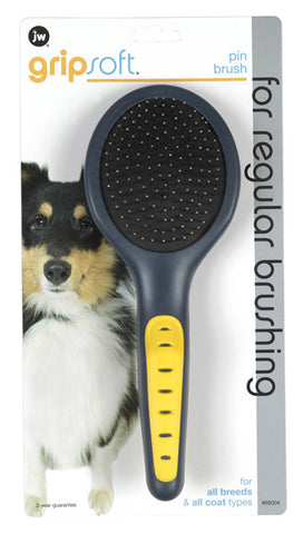 JW Pet Company Gripsoft Pin Brush for Dogs