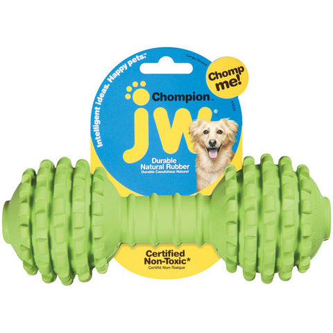 Chompion Rubber Dumbbell Dog Toy Heavyweight