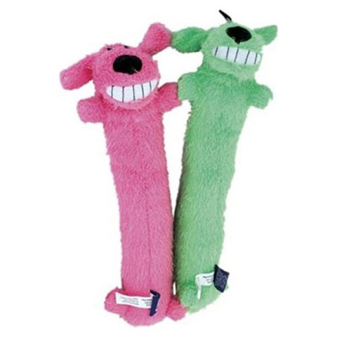 Loofa Unstuffed Assorted Plush Dog Toy 24 Inch