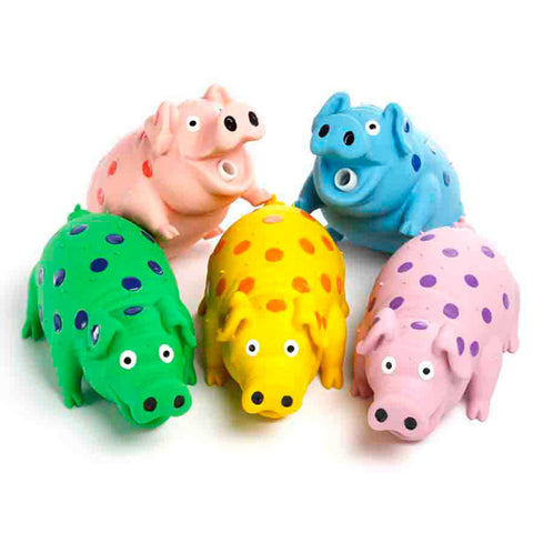 Globlet Pig Dog Toy Assorted Colors 9 Inch