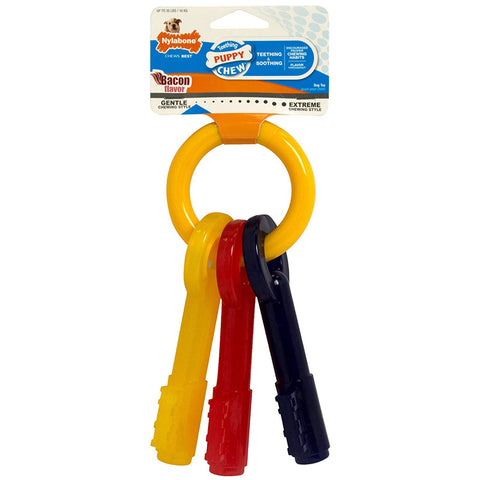 PUPPY CHEW - Key Ring Bone Puppy Dog Teething Chew Toy Large