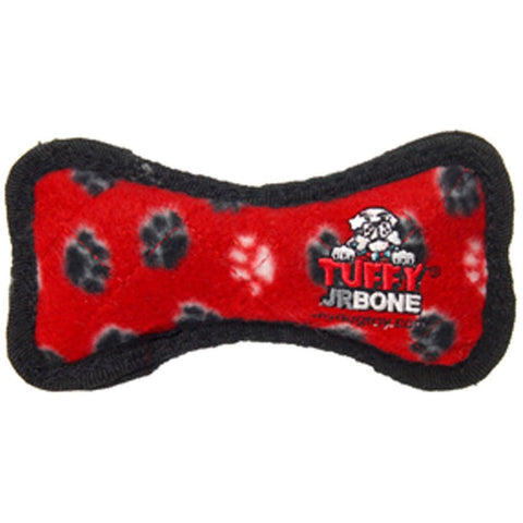 TUFFY - Junior Bone Red Paws Dog Chew Toy
