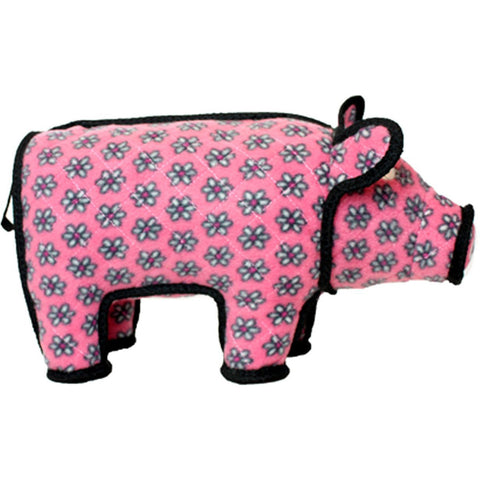 TUFFY - Barnyard Polly the Pig Dog Toy in Pink Large