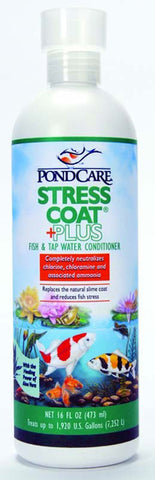 Aquarium Pharmaceuticals - PondCare Stress Coat Fish and Water Conditioner - 16 fl. oz.