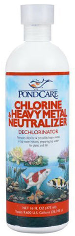 Aquarium Pharmaceuticals - PondCare Chlorine And Heavy Metal Neutralizer - 16 fl. oz.