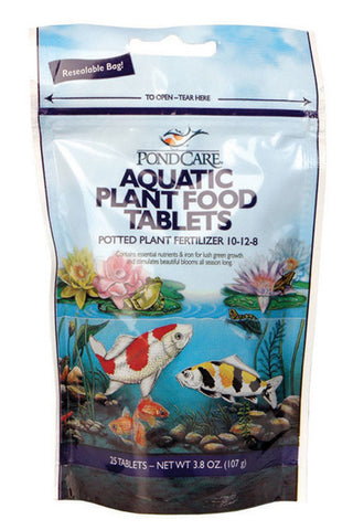 Aquarium Pharmaceuticals - PondCare Aquatic Plant Food Tablets - 25 Tablets