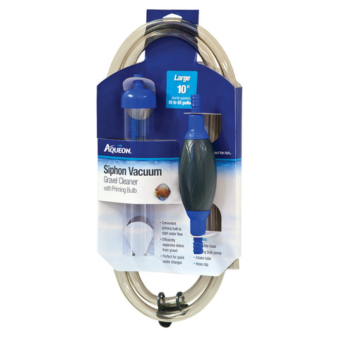 AQUEON - Siphon Vacuum Gravel Cleaner with Priming Bulb Large