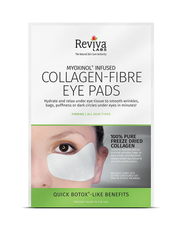 REVIVA LABS - Collagen Fiber Eye Pads with Myoxinol